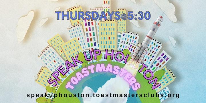 Improve Your Public Speaking with Speak Up Houston Toastmasters Online image