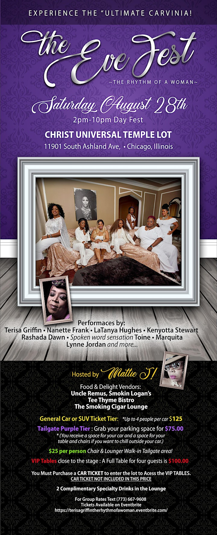 """Terisa Griffin's (The Rhythm of the Woman) """"Eve"""" Music Festival image"""