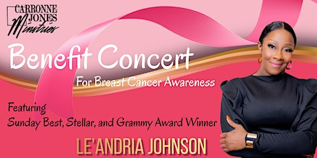 """""""Pink Soul"""" Benefit Concert for Breast Cancer Awareness tickets"""