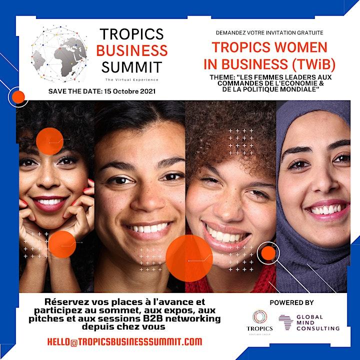 5eme edition du TROPICS BUSINESS SUMMIT | Online Event (12-16 Octobre 2021) image