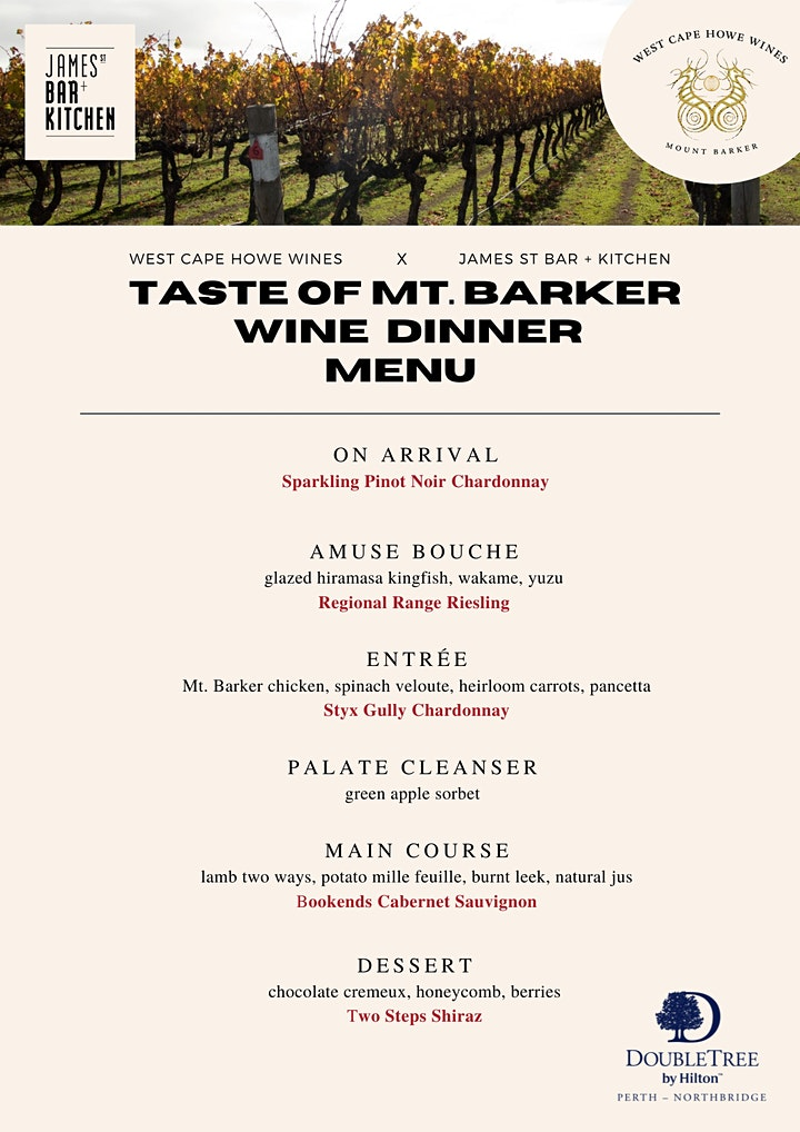 Taste of Mt. Barker WINE DINNER image