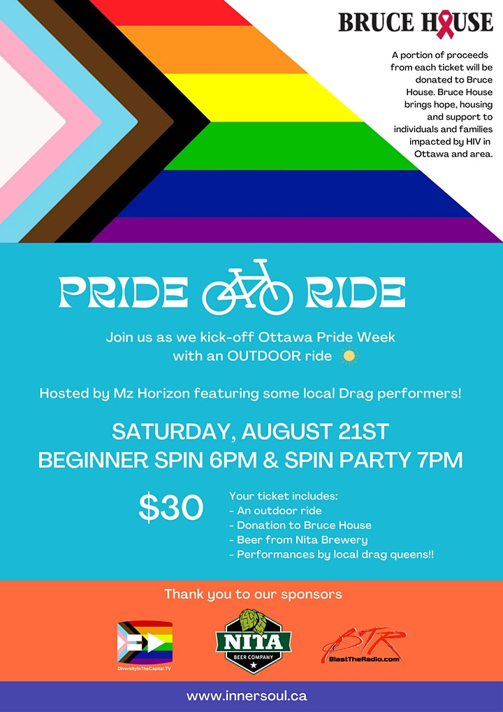 Inner Soul Yoga & Cycle's Pride Ride for Bruce House image