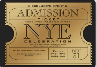New Years Eve GALA 2021- Martin's West tickets