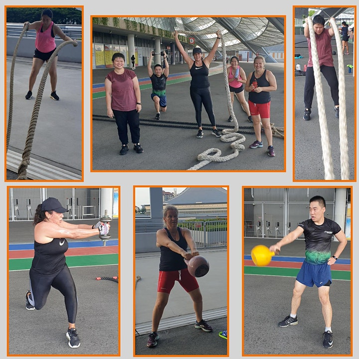 Sun 8am-HIIT/Functional Fitness with Weights - Outdoor ActiveSG approved image