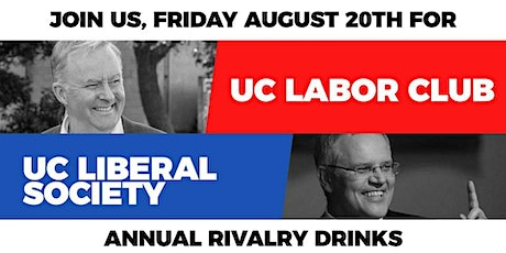 UC Labor v UC Liberal Rivalry Drinks tickets