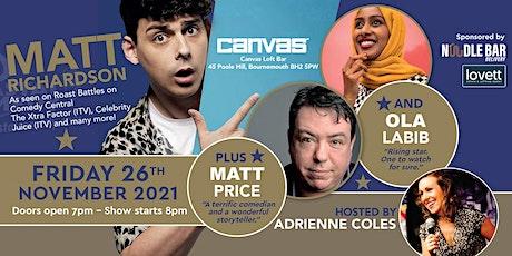 The Coastal Comedy Show with Matt Richardson tickets