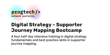Supporter Journey Mapping Bootcamp tickets