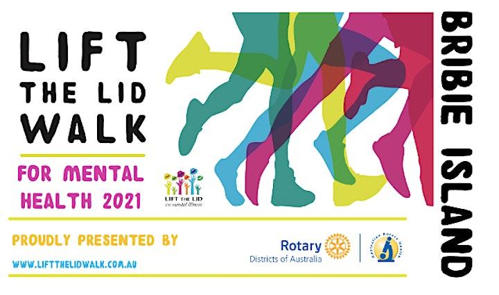 LIFT THE LID WALK for Mental Health - BRIBIE ISLAND 2021 image