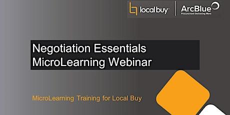 Negotiation Essentials MicroLearning Webinar tickets