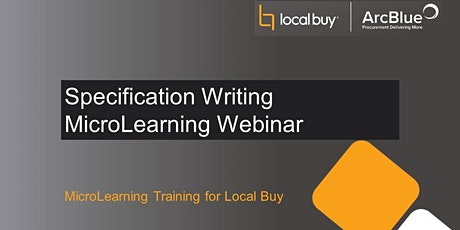 Specification Writing MicroLearning Webinar tickets