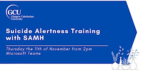 Suicide Alertness Training with SAMH tickets