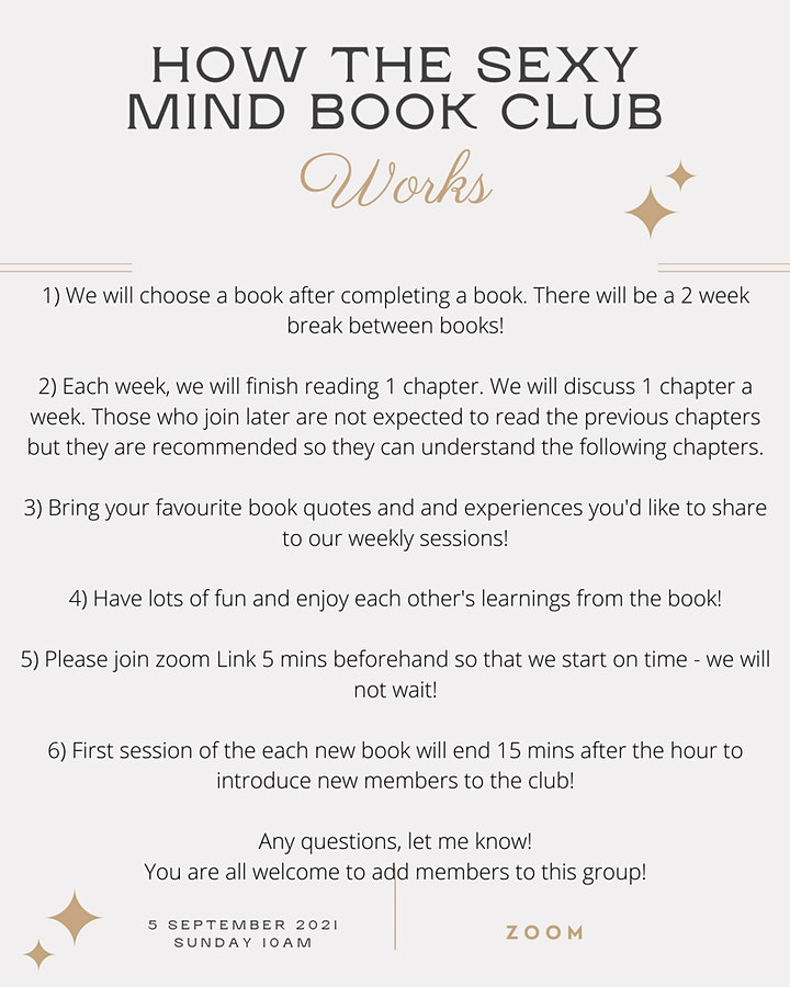 """VIRTUAL BOOK CLUB - """"The Gifts of Imperfection"""" by Brené Brown -5 SEP START image"""