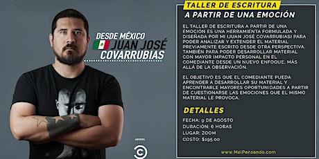 Taller de Escritura - Stand Up Comedy - Juan José Covarrubias (Online) tickets