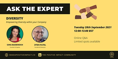 Ask the Expert: Empowering Diversity within your Company tickets