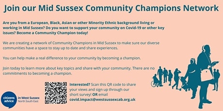 Mid Sussex Community Champions - Financial Support tickets