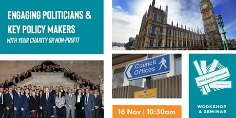 Engaging Politicians & Policy Makers with Your Charity tickets