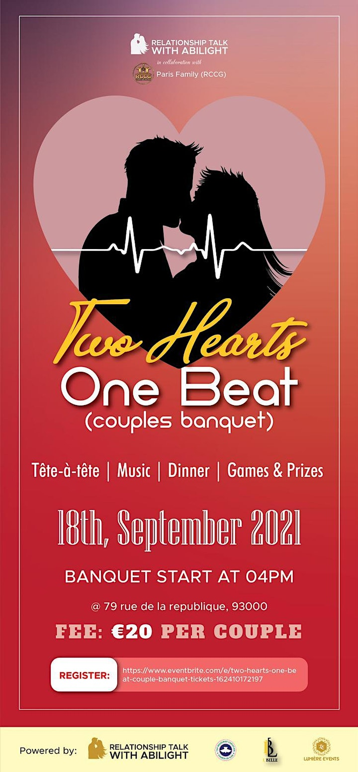 TWO HEARTS ONE BEAT  (Couple Banquet) image