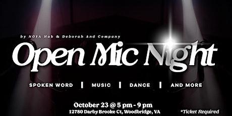 Nova Hub Open Mic Night tickets