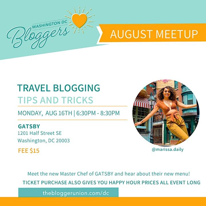 DC Bloggers Meetup: Travel Blogging Tips & Tricks image