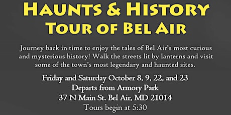 5th Annual Haunts and History Tour October 8 tickets