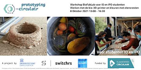 Workshop BioFabLab  Mycelium basis // voor studenten IO / IPO tickets