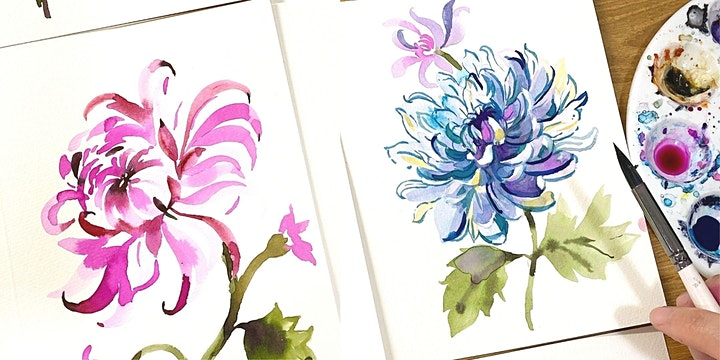 [Letters Of Love] Delicate Watercolor Floral Card Painting - Virtual image
