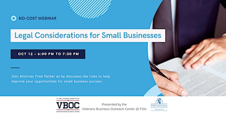 Legal Considerations for Your Business Webinar tickets