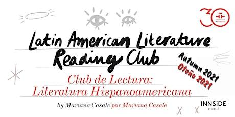 Club de Literatura Hispanoamericana: Tercera sesión boletos