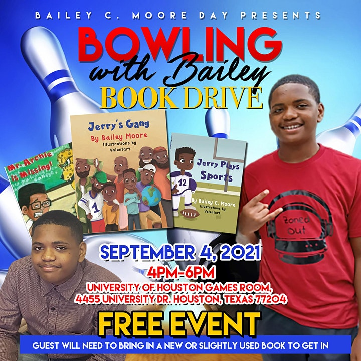 Bowling with Bailey Book Drive image