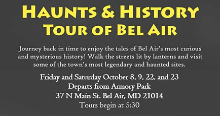 5th Annual Haunts and History Tour October 9 tickets