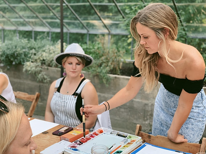 Botanical Watercolors - a workshop with artist Chelsea Michal Garter image