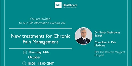 New treatments for Chronic Pain Management tickets