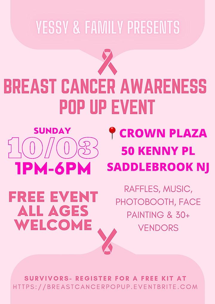 BREAST CANCER AWARENESS POP UP EVENT image
