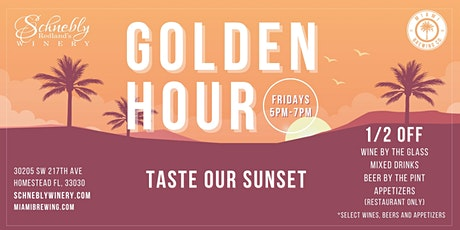 GOLDEN HOUR FRIDAYS at Schnebly Winery and Miami Brewing Company! tickets