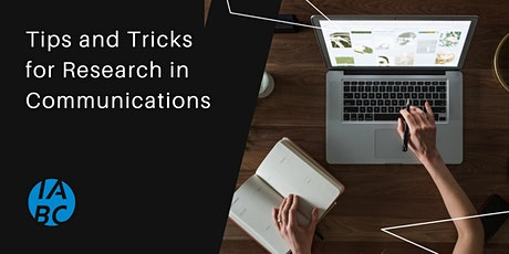 Happy Hour: Tips and Tricks for Research in Communications tickets