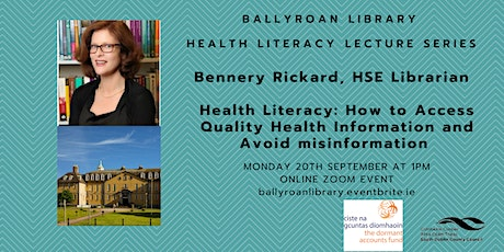 Health Literacy    How to access quality health information tickets