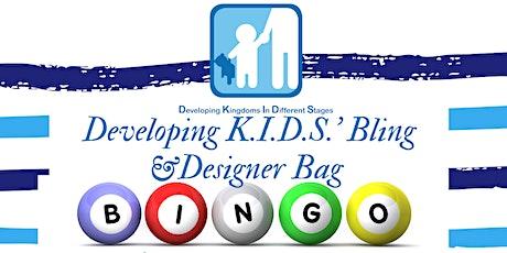 Developing K.I.D.S.' Bling & Designer Bag Bingo tickets