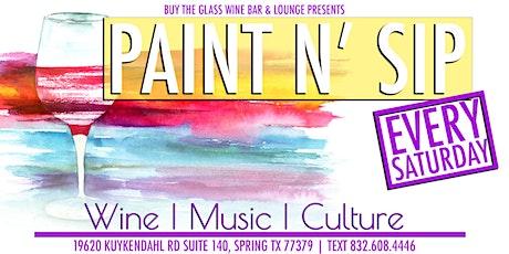 Paint n' Sip | Paint & Wine Tasting Experience tickets