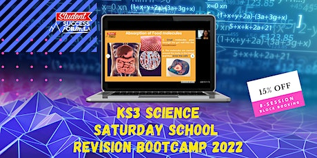 KS3 Science Saturday School - 15% Discount for 8-session block booking tickets