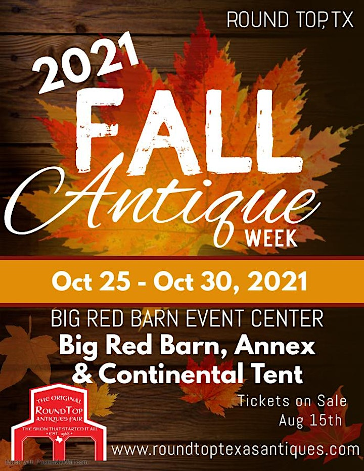 Original Round Top Antiques Fair - Fall 2021 - 50+ Years of Fabulous image