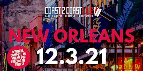 Coast 2 Coast LIVE Artist Showcase New Orleans - Artists Win $50K tickets