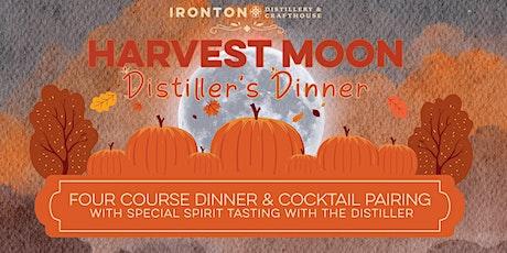 Harvest Moon Distiller's Dinner tickets