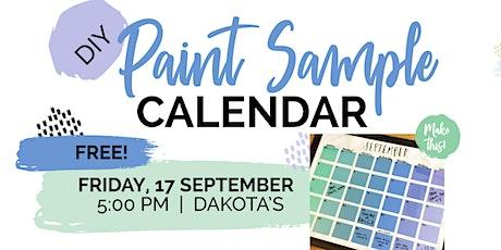 EAFB - DIY Paint Sample Calendar tickets