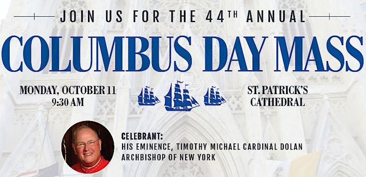 Columbus Day Mass image