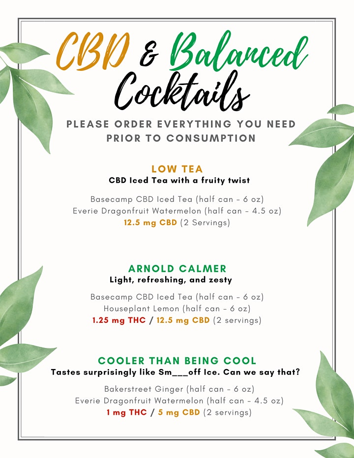 Cannabis Cocktail Tasting (19+ Event on Bloorcourt) image