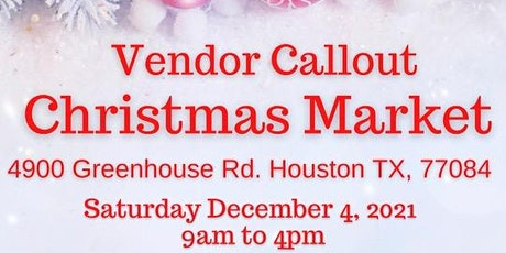Christmas Market Vendor Callout tickets