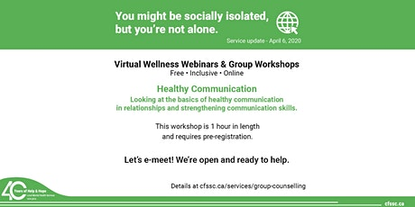 Relationship Series: Healthy Communication tickets