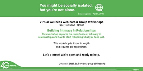 Relationship Series: Building Intimacy in Relationships tickets