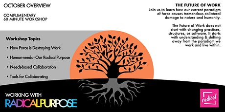 Working With Radical Purpose - November 2021 Overview Workshop tickets