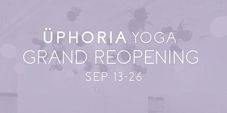 Üphoria Yoga: Grand Reopening Community Classes tickets